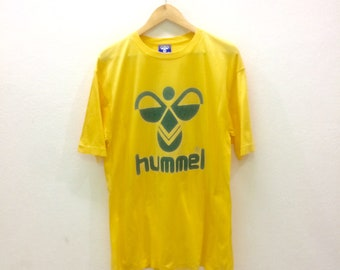 7ee77d80a Vintage Hummel T-shirts Big Logo Sportswear Large Size