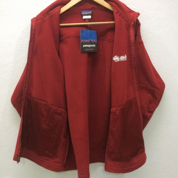 5bc0ea8ec2 RARE!! Patagonia New With Tag Jacket Sweater Full Zipper Fleece Patagonia  Logo On Sleeve Large Size