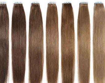 Lexi Locks 18 Inch Tape In Hair Extensions 100% Human Remy Hair