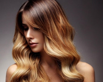 Lexi Locks Ombre 18 Inch Fusion Locks Hair Extensions 100% Human Remy Hair
