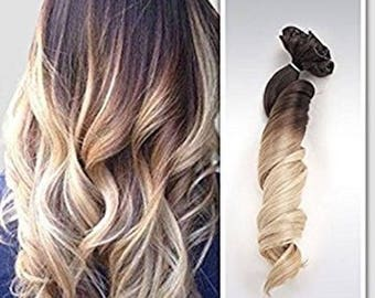 """Lexi Locks 18"""" Clip In Hair Extensions/ Pure Human Remy Hair/Custom Color/212 Grams/12 piece Set/Silky Straight"""