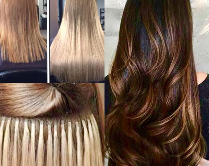 "Fusion Ombre Human Hair Extensions, 100% Human Remy Hair, 100 grams, Custom Color, Straight, 18""-30"""