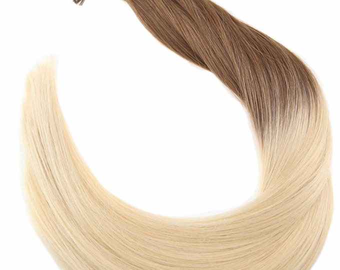 "22"" Fusion Ombre Human Hair Extensions, 100% Human Remy Hair, 100 grams, Custom Color, Straight"
