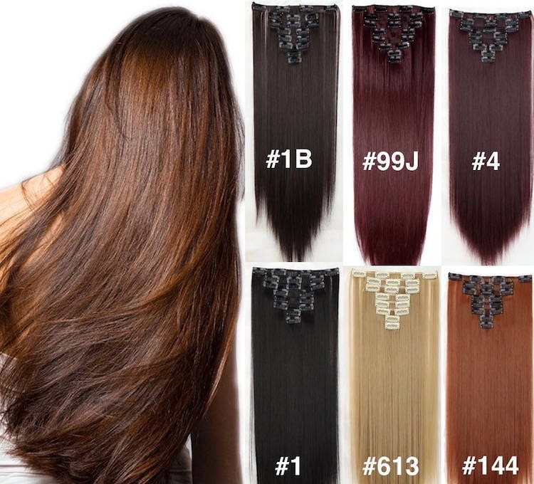 Lexi Locks 22clip In Hair Extensions Pure Human Remy Haircustom