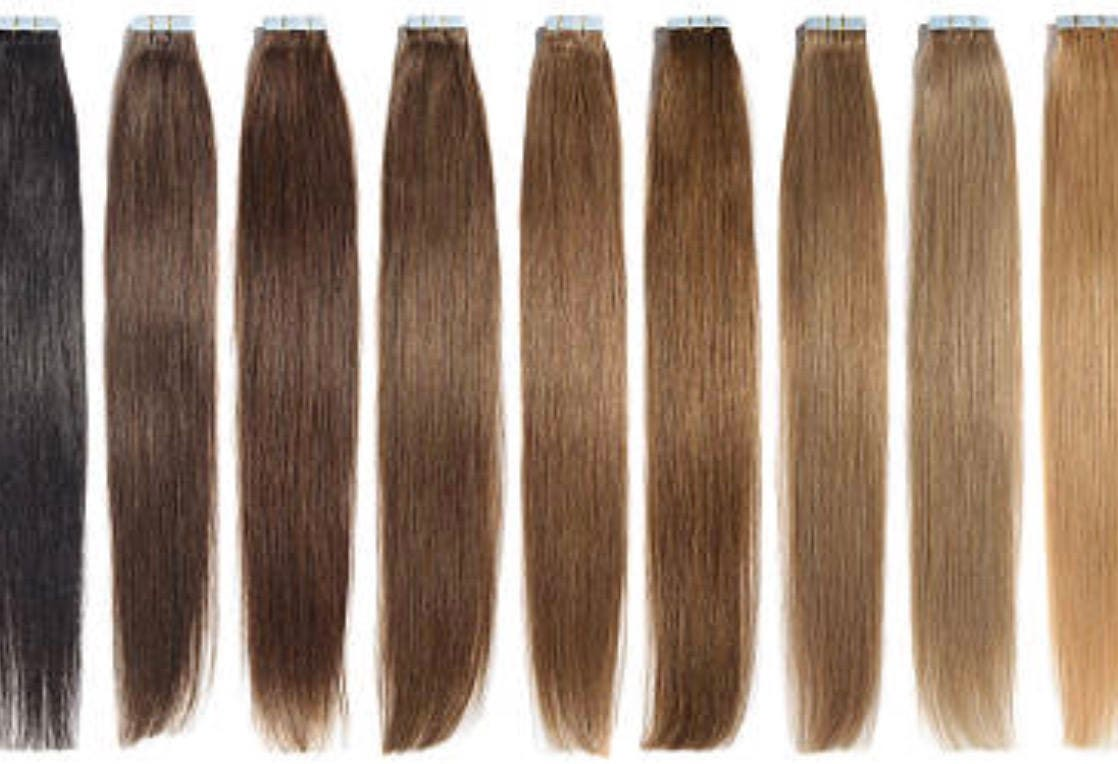 Lexi Locks 18 Inch Tape In Hair Extensions 100 Human Remy Hair