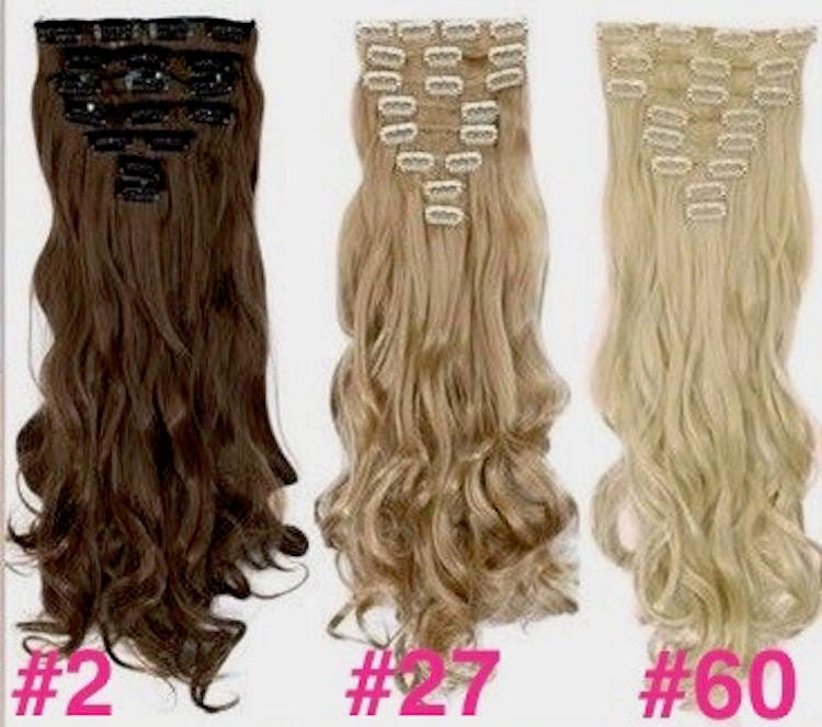 24 Clip In Hair Extensions Pure Human Remy Haircustom Color212