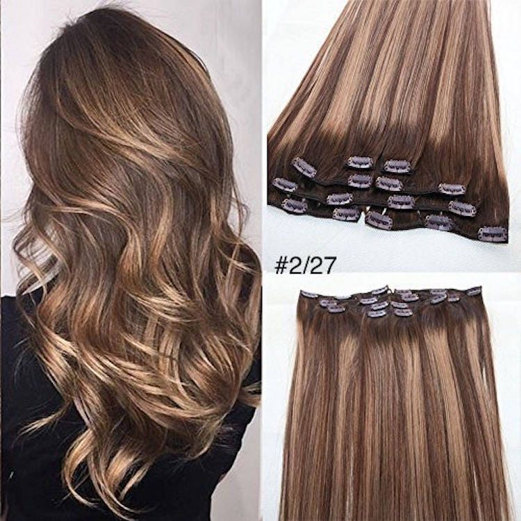 20clip In Hair Extensions Pure Human Remy Haircustom Color212