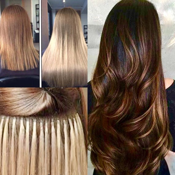 Ombre 22 Fusion Locks Hair Extensions 100 Human Remy Etsy