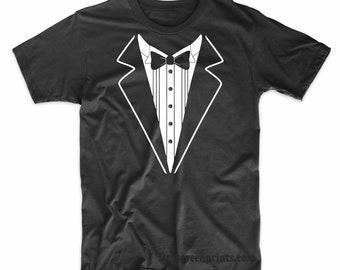 13ad75dd1 Tuxedo Funny Prom Wedding T-Shirt