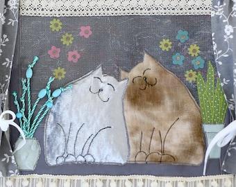 Dementia Pillow / Fidget Pillow 'Windowsill Cats'