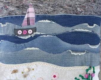 Dementia pillow / Fidget pillow 'Sea'