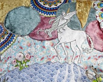 Dementia Pillow / Fidget Pillow 'Unicorn'