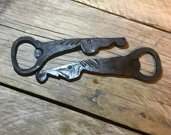 Items similar to Beer Sign Bottle Opener with Easy to Empty Cap Catch