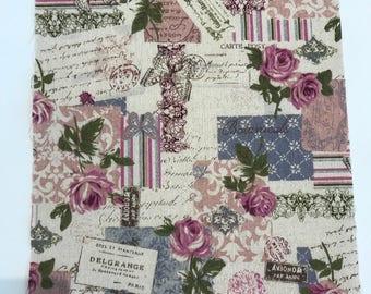 Vintage style linen fabric