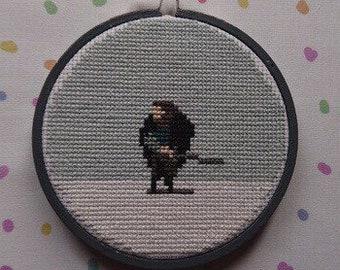 Game of Thrones - Jon Snow Cross Stitch Hoop