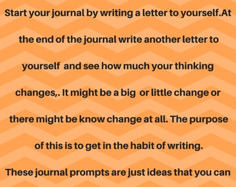 Journal Prompts Ideas