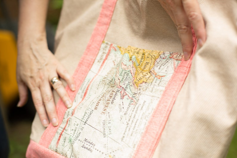 Map Print Tote Bag Extra Large