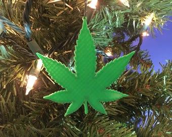 Flower of Life Cannabis Spiritual Stoner Fleece Christmas Tree Skirt Ganja Yoga Sacred Geometry Holiday Decor Weed Medical Marijuana