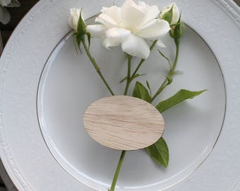 Set of 25 Oval Wood Place Card Blanks Wedding Special Events Dinner Party Event Planning