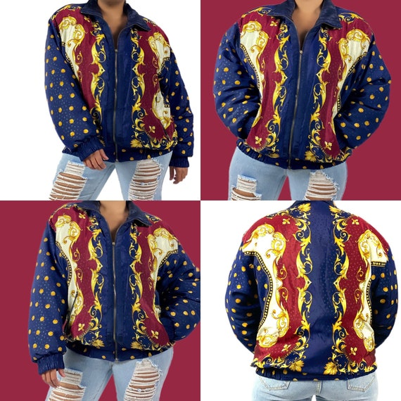 Vintage puffer down feather jacket size medium 199