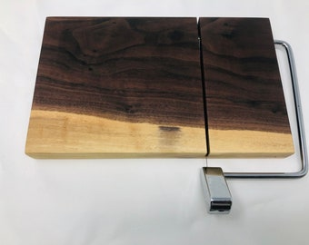 Rustic One Of A Kind Handcrafted Face-Grain Walnut Cheeseboard 1908036