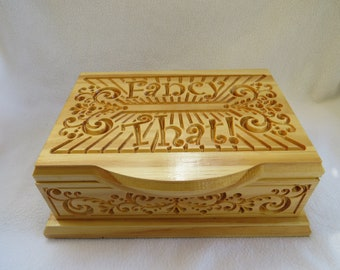 Pine KeepSake jewelry box or small storage box
