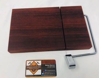 Exotic One Of A Kind Handcrafted Face-Grain African Padauk Cheeseboard 191024