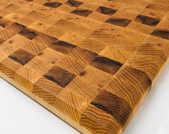 Wow! Awesome Thick End Grain Handcrafted Hickory/Pecan Cutting board butchers block 1911175