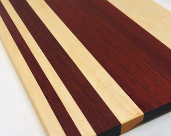 Handcrafted Exotic wood Padauk & Maple Cutting Board 1910148