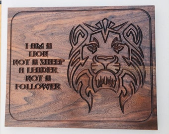 1I Am A Lion Wall Decor Walnut  2002153