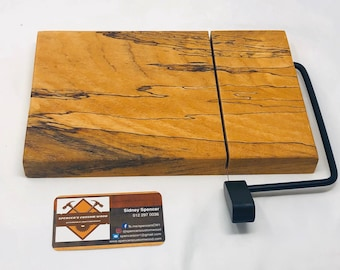 Gorgeous One Of A Kind Handcrafted Face-Grain Spalted Pecan Cheeseboard 191016