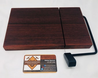 Exotic One Of A Kind Handcrafted Face-Grain Padauk Cheeseboard 191025