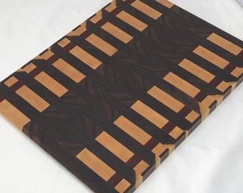 Beautiful custom handcrafted Walnut, Maple, and Padauk Cutting Board Butchers Block 191065