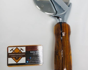 Dazzling Custom made Cocobolo handle and stainless steel Pizza Cutter 191035
