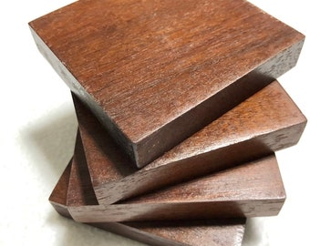 Beautiful 4 piece coaster sets made from exotic mora wood 180083