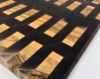 Excellent custom handcrafted Walnut, Padauk, Maple and Spalted Pecan Cutting Board Butchers Block 191068