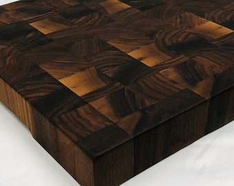 Extra Large Thick End Grain custom handcrafted Black Walnut cutting board chopping block 1909302