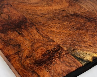 1Lovely One-of-a-kind Handcrafted face grain Mesquite cutting board 1910153