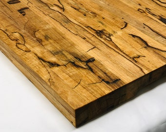 Extra Large Stunning Handcrafted Edge-grain Texas Splated Pecan cutting board butchers block 1910149