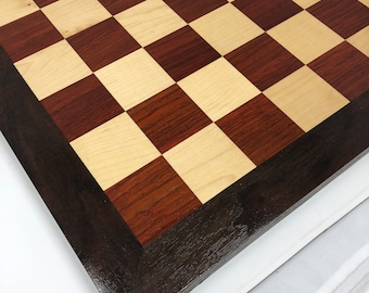 Beautiful Handmade Chess Board African Padauk and Maple with Walnut frame 1907282