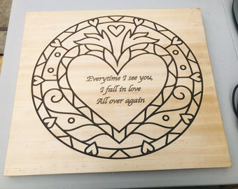 1In Love All Over Again Heart Wall Decor Maple  2002152