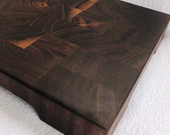 Adorable Thick End Grain custom handcrafted  Black Walnut cutting board chopping block 1903107