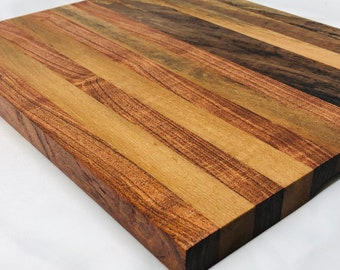 Absolutely Gorgeous thick Edge Grain Handcrafted Spalted Pecan and Mesquite Cutting board butchers block 1910154