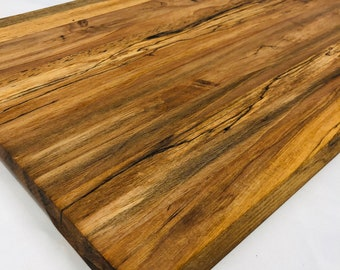 Rustic Edge Grain Handcrafted Spalted Stripe Cutting board butchers block 1911178