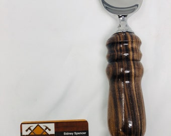 Lovely Handmade Rosewood Heavy Duty Handle and Stainless Steel Ice Cream 191096