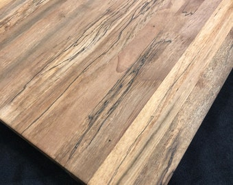 Beautiful Handcrafted edgegrain Spalted Pecan cutting board