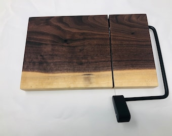 Rustic One Of A Kind Handcrafted Face-Grain Walnut Cheeseboard 1908035