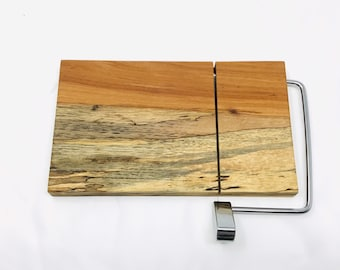 Rustic One Of A Kind Handcrafted Face-Grain Texas spalted pecan Cheeseboard 1908032