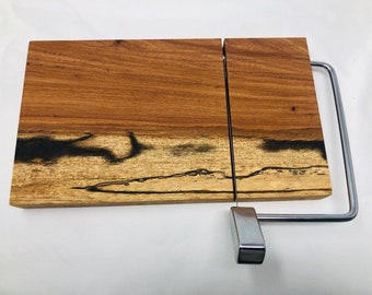 Rustic One Of A Kind Handcrafted Face-Grain Texas spalted pecan Cheeseboard 1908031