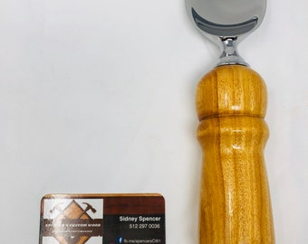 Exquisite Handmade Orange Osage handle and stainless steel paddle ice cream scoop 191091